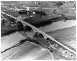 Aerial view of Solway Bridge