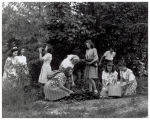Girl Scouts on a picnic