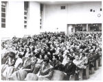 Audience at lecture by Eugene Wigner and Friedrick Seitz