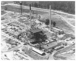 Aerial view of Graphite Reactor Building under construction