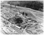 Aerial view of reactor building under construction