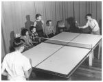 Children playing ping pong