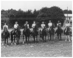 Women of a riding class at Oak Ridge stables