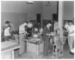 Woodworking class at the high school