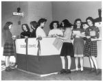 War bond booth at Jefferson Junior High School