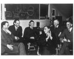 Scientists discuss a proposed cyclotron at Berkley, California