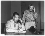 General Groves and General Farrell on a conference call