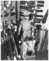 Sgt. C. M. Sillers in the confiscated materials room