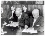 Signing of the first federal financial agreement