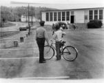 Bicycle safety training at Scarboro School