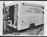 Ronnie Layne and Library bookmobile