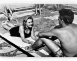 Ann Patten and Billy Watterson at the outdoor pool