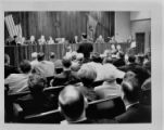 City Council and audience at council meeting on April 7, 1966