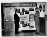 Display promoting Oak Ridge's business and living climate