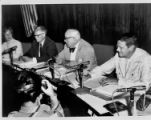 Al Bissell and three other councilmembers at a Council meeting