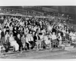Audience at an event at Blankenship Field