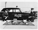 Police officers and equipment