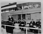 Captain Hoffman speaks at U.S.S. Oak Ridge commissioning