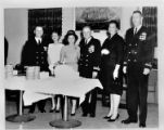 U.S.S. Oak Ridge officers and wives at reception