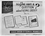 Library display about atomic energy