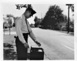 Officer Stan Givens monitors traffic