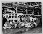 Bus garage and maintenance crew