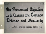 The paramount objective